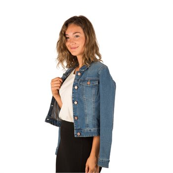 NOISY MAY - debra l/s denim jacket fonce
