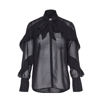 SOAKED IN LUXURY - gianna shirt ls Medium Noir