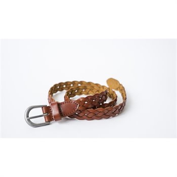 SOAKED IN LUXURY - Vivvi braid belt Medium Brun Pâle