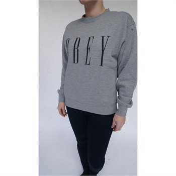 OBEY - new fit crew fleece Large Gris