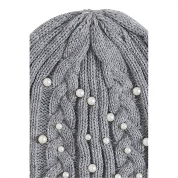 ICHI - pearl tuque O/S Gris