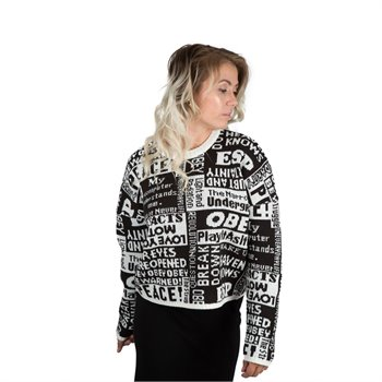 OBEY - sweater 251000085 Large Imprimé